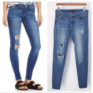 Flying Monkey Distressed Denim Skinny Jeans 29